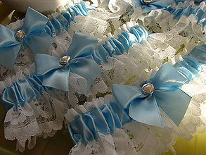 Bielizeň/Plavky - podväzok (Modrá) - 10760157_