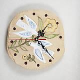 Dekorácie - Keramické hodiny - priemer 20 cm. - 10760431_
