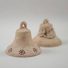 Dekorácie - Keramický zvonček výška 6 cm - 10760542_