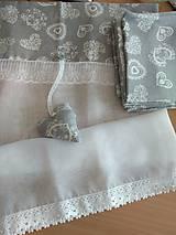 Úžitkový textil - Vitrážková záclonka - 10758679_