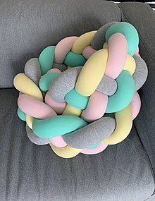 Textil - Detský mantinel zapletaný štvorfarebný - 10759492_