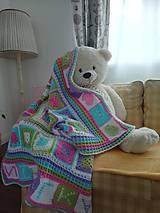 Úžitkový textil - Háčkovaná deka - 10759488_