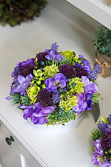 Dekorácie - Flowerbox - čučoriedka - 10760648_