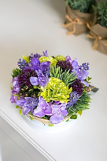 Dekorácie - Flowerbox - čučoriedka menší - 10760712_