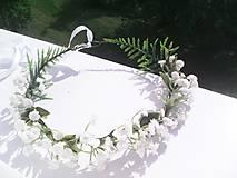 """Ozdoby do vlasov - Kvetinový venček do vlasov """"... nevestin závoj ..."""" - 10758813_"""