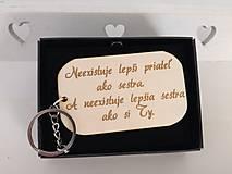 Kľúčenky - Kľúčenka - sestra - 10759929_