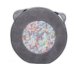 Kabelky - Kožená kulatá kabelka HOLY - 10760749_