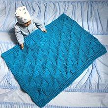 Textil - Tyrkysová deka : 75-60 ❤️ pre detičky ❤️ - 10758794_
