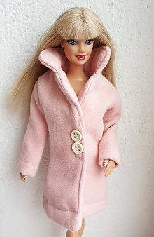 Hračky - Ružový kabát pre Barbie - 10759056_