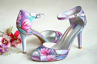 Obuv - Ručne maľované sandálky - 10758554_