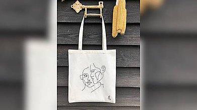 Iné tašky - ♥ Plátená, ručne ručne vyšívaná taška ♥ (XY1) - 10758563_