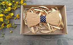 Doplnky - Pánsky drevený motýlik - 10760906_