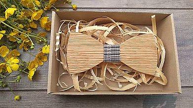 Doplnky - Pánsky drevený motýlik - 10760920_