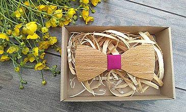 Doplnky - Pánsky drevený motýlik - 10760921_