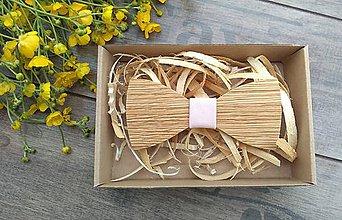 Doplnky - Pánsky drevený motýlik - 10760925_