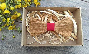 Doplnky - Pánsky  drevený motylik - 10760929_