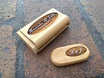 Drobnosti - svadobný usb kľúč s krabičkou - 10760734_