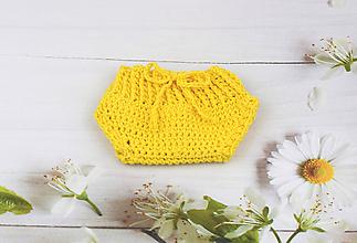 Detské oblečenie - Žlté nohavičky EXTRA FINE - 10759588_