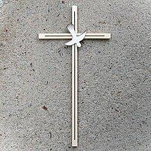 Dekorácie - Drevený Kríž k Birmovke - 10758401_