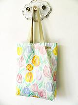 Nákupné tašky - Taška pastelové tulipány - 10759117_