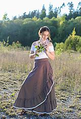 Sukne - zavinovacia sukňa Nature - 10760633_