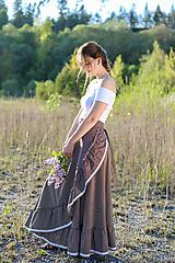 Sukne - zavinovacia sukňa Nature - 10760643_