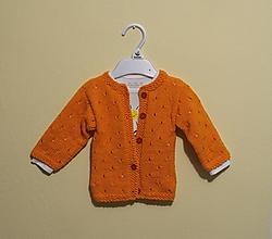 Detské oblečenie - Pletený svetrík oranžový - 10760631_