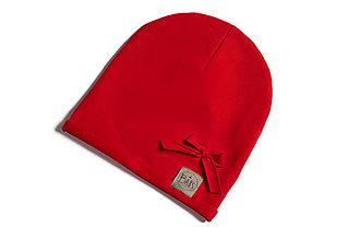 Detské čiapky - Čiapka s mašličkou - 10760459_