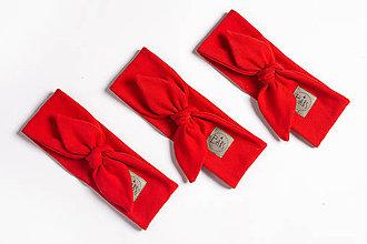 Detské čiapky - Čelenka červená - 10760475_