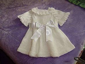 Detské oblečenie - Pletené detské šatočky - 10760009_