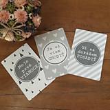 Detské doplnky - Milnikove kartičky sive 24 ks (A5) - 10759309_