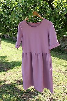 Šaty - Dámske staroružové teplákové šaty - 10759982_