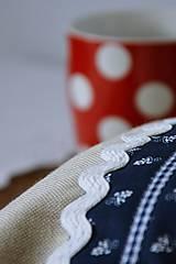 Úžitkový textil - Vrecko na chlieb - modrotlač - 10759312_