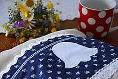 Úžitkový textil - Vrecko na chlieb - modrotlač - 10759321_