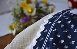 Úžitkový textil - Vrecko na chlieb - modrotlač - 10759323_
