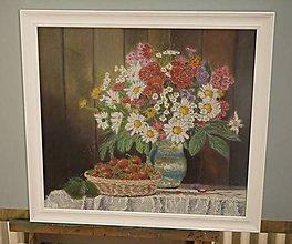 Obrazy - květina s jahodami - 10760186_