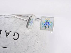 Šperky - folklórne manžetové gombíky - 10758664_