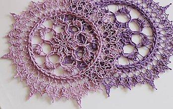 Úžitkový textil - Háčkovaná dečka Irene (Fialová) - 10760565_