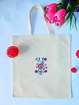 Nákupné tašky - Ručne vyšívaná nákupná taška - 10759063_