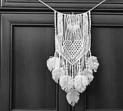 Dekorácie - Makramé dekorácia Love - 10759558_