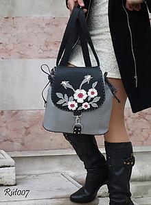 Kabelky - Kožený baťůžek Dual bags_Queen of roses - 10758322_