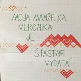 Tričká - Maľované tričká pre mladomanželov s ľudovým motívom z Horehronia a nápismi na želanie - 10758978_