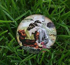 Odznaky/Brošne - Rande v záhrade - 10760755_
