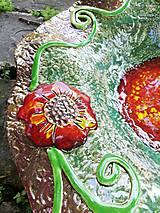Nádoby - Keramická misa - vlčie maky - 10758874_