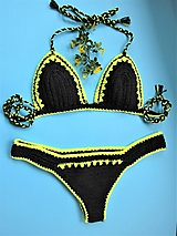 Bielizeň/Plavky - Háčkované plavky Neonky - 10760292_
