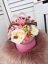 Drobnosti - Cukríkovo kvetinový box - 10761351_