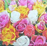 Nezaradené - S482 - Servítky - ružičky, ruže, roses, kytica, kvety - 10761180_