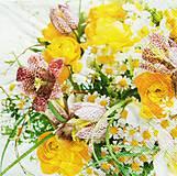 Nezaradené - S320 - Servítky - kvety, kytica, ruža, frézia, flowers - 10761190_