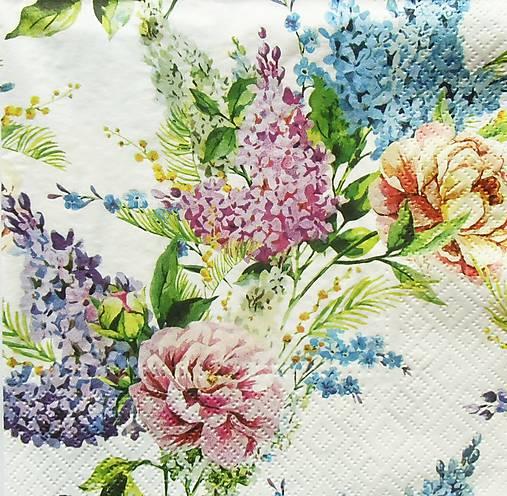 S1361 - Servítky - kvety, orgován, ruža, jar, nezábudka