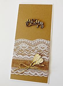 Papiernictvo - pohľadnica svadobná - 10762023_